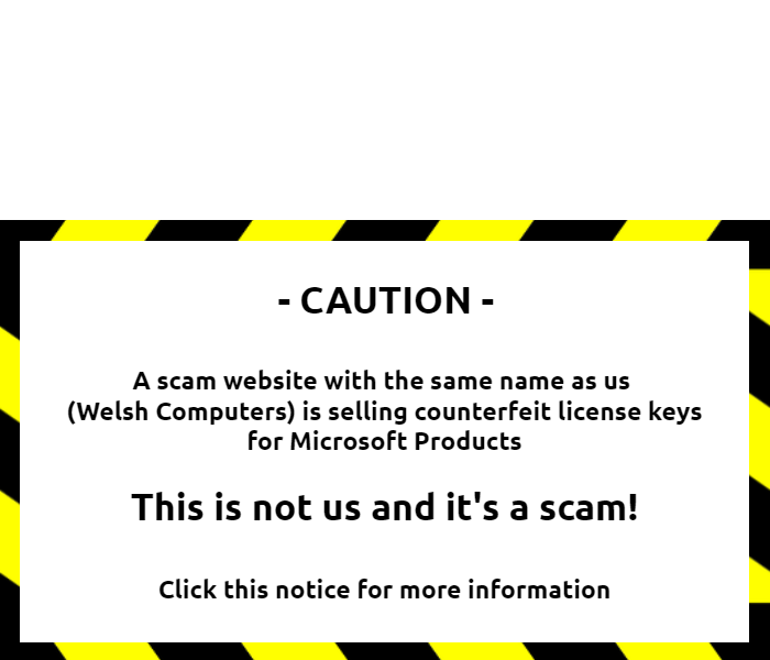 Don't fall for a scam!